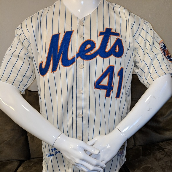huge discount df202 10dcb Tom Seaver #41 New York Mets Cream Buttonup Jersey Boutique